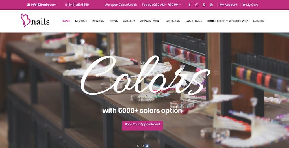Dự án thiết kế website doanh nghiệp Bnails