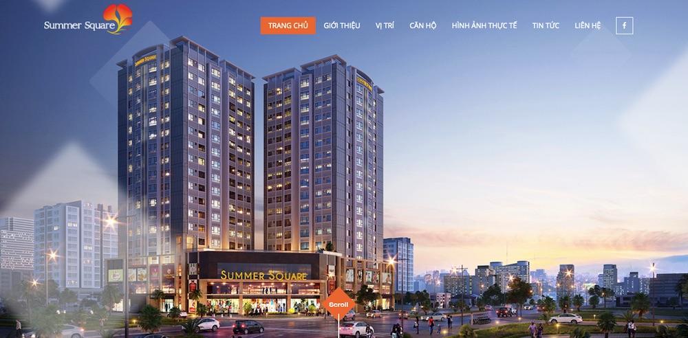 Dự ánthiết kế website giới thiệu công ty Summer Square
