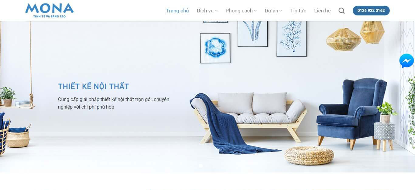 Cần thiết kế website nội thất