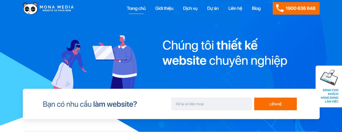 Chọn dịch vụ thiết kế web trọn gói của Mona