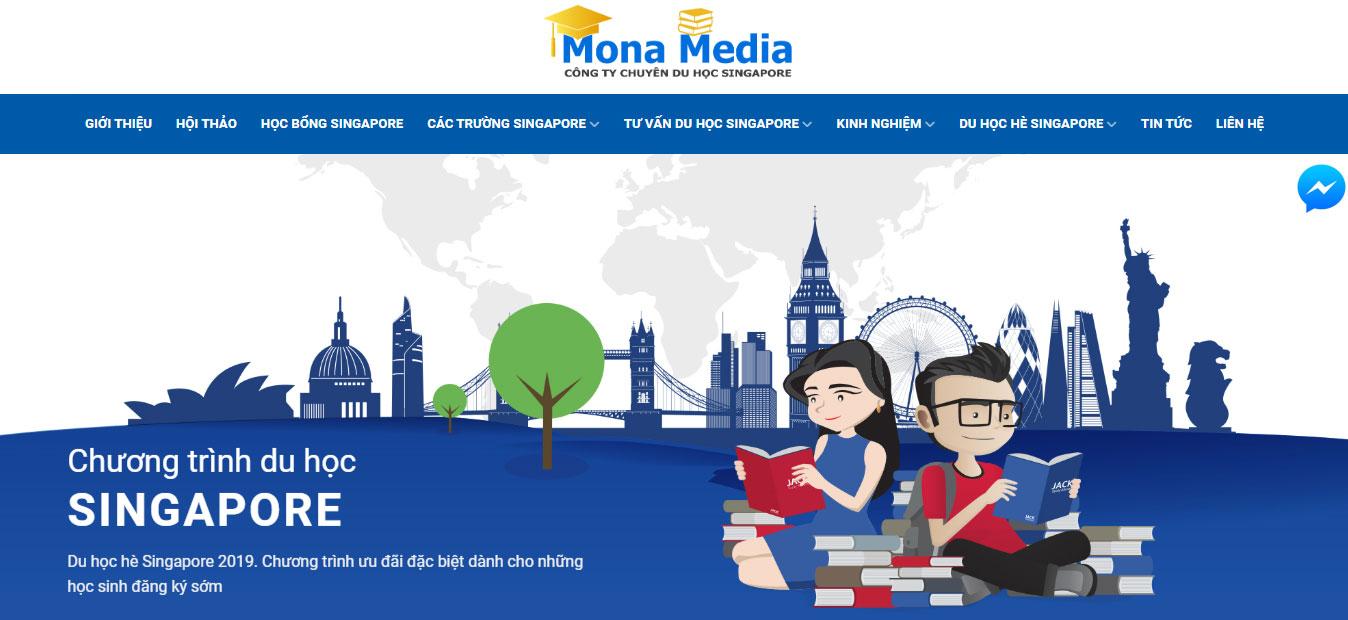 Tính năng của website du học