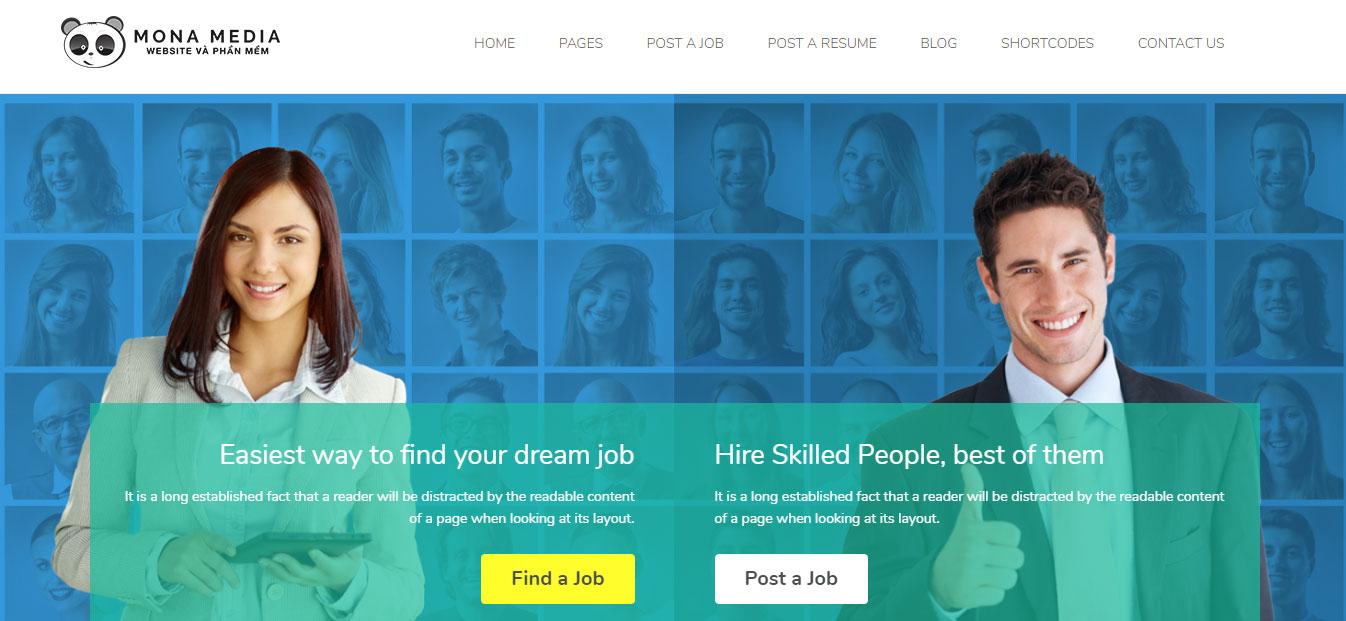Thiết kế website tuyển dụng chuyên nghiệp tại Mona