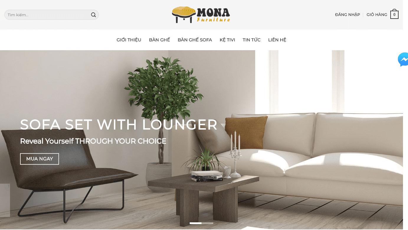 Lưu ý khi thiết kế web nội thất
