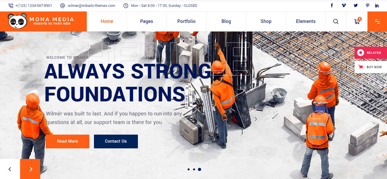 thiết kế website cho doanh nghiệp xây dựng