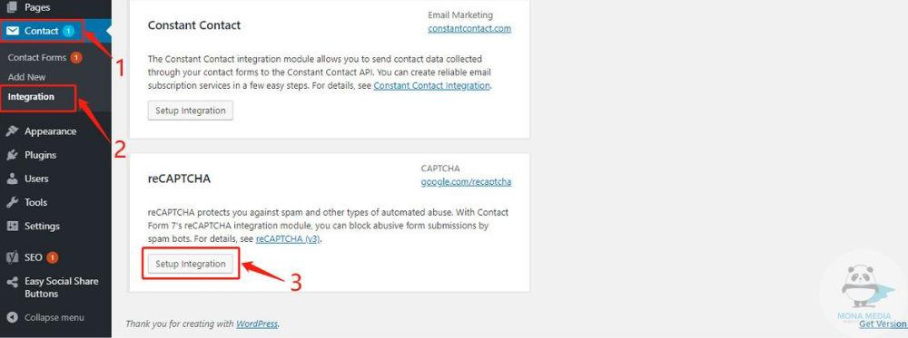 Tích hợp reCaptcha cho Contact Form 7
