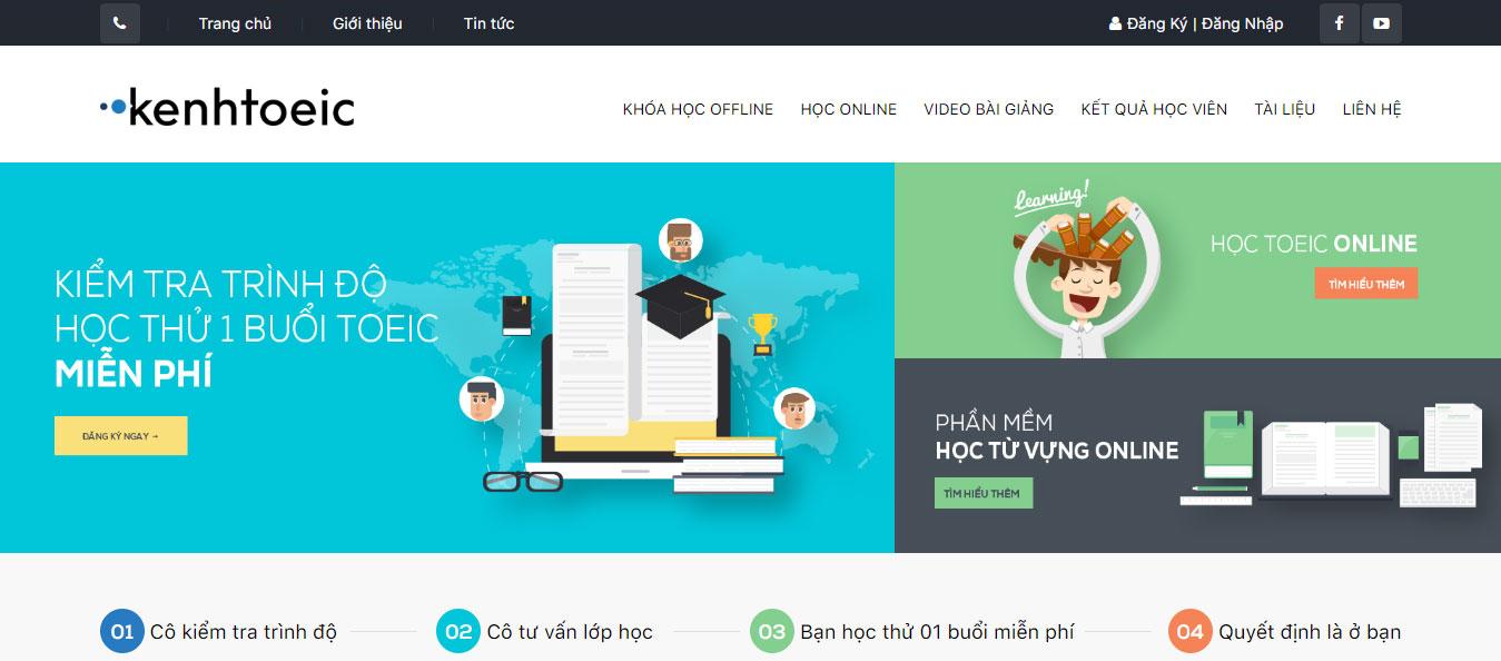 Thiết kế web học trực tuyến tại Mona