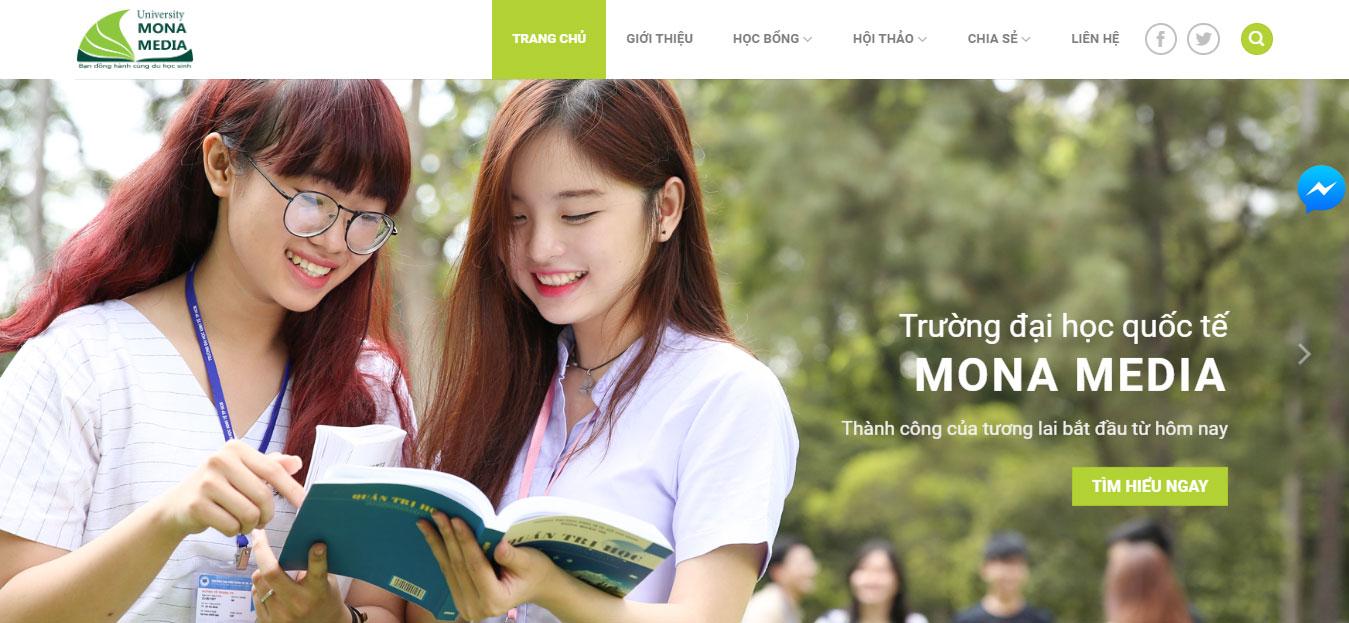 Thiết kế web trường học tại Monamedia