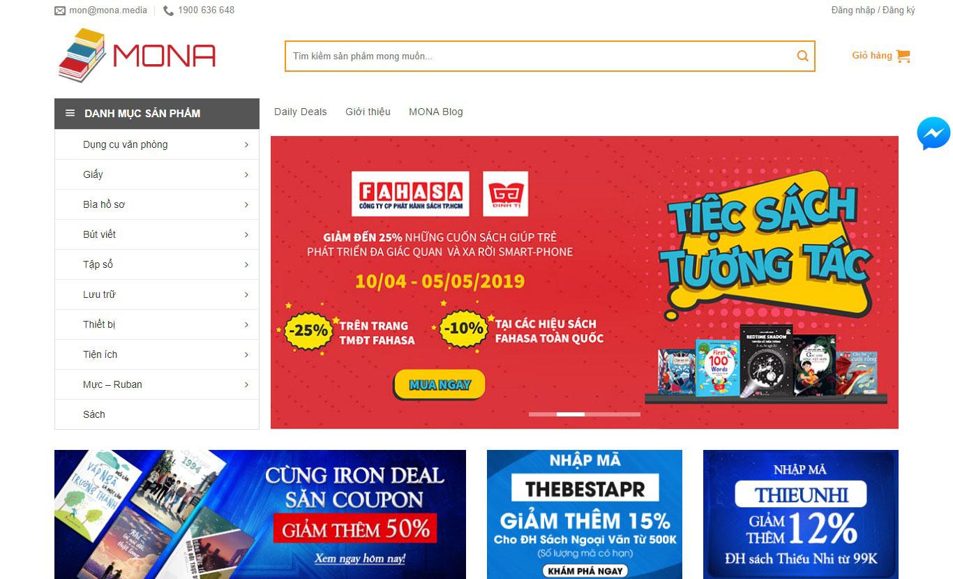 Dịch vụ thiết kế website nhanh của Mona