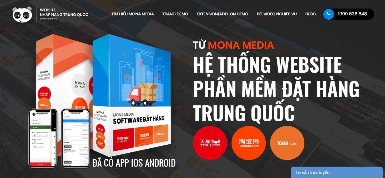 thiết kế website nhập hàng Trung Quốc đủ tính năng