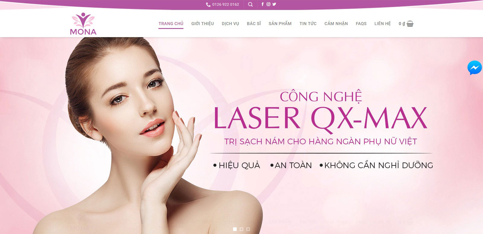 thiết kế website spa tại Mona