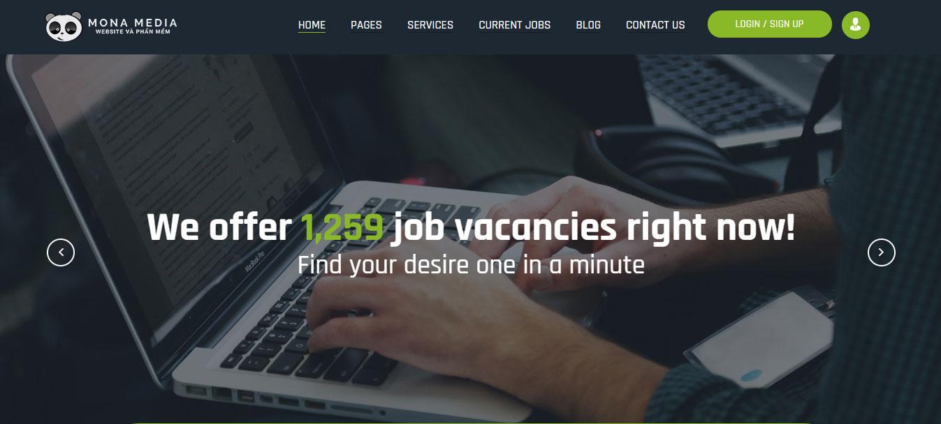 Thiết kế website tuyển dụng chuyên nghiệp.