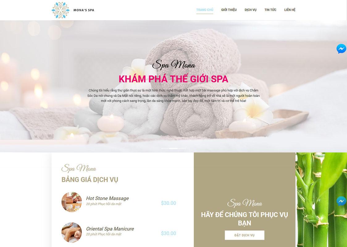 Các tính năng không thể thiếu khi làm website spa