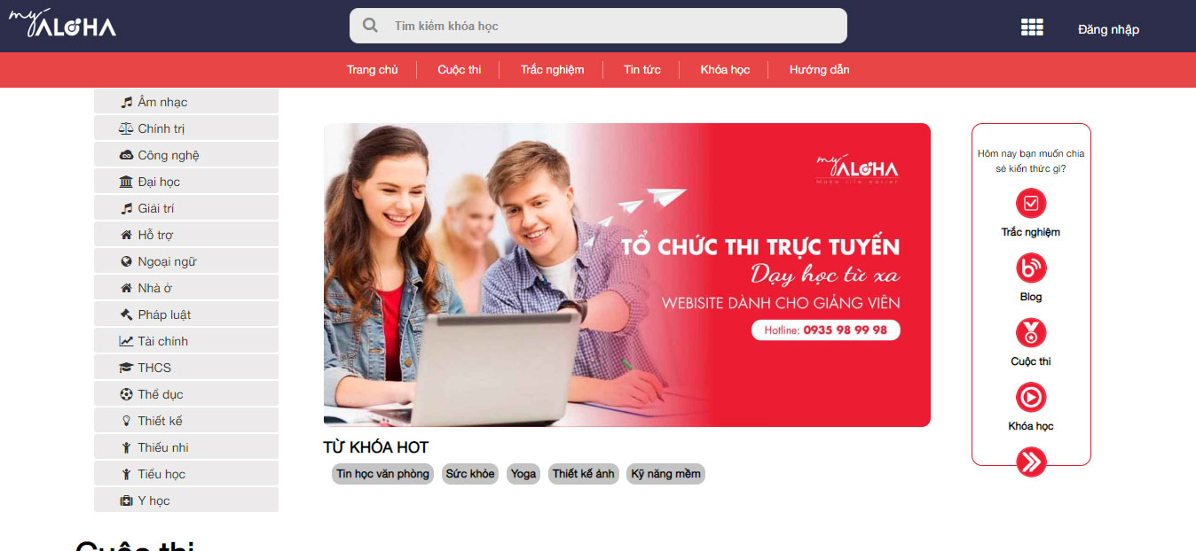 Website học trực tuyến