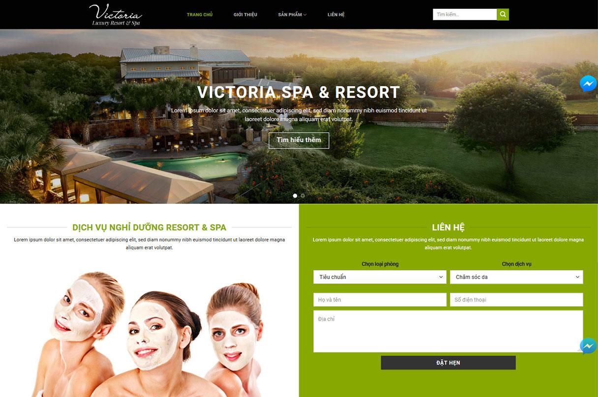 Yêu cầu khi thiết kế website spa