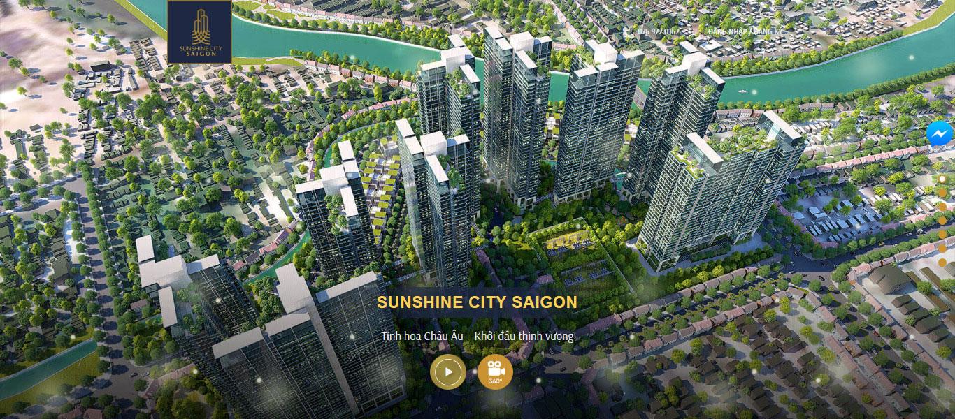 Mẫu website bất động sản Saigoncity