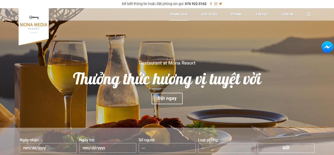 Mẫu website nhà hàng.