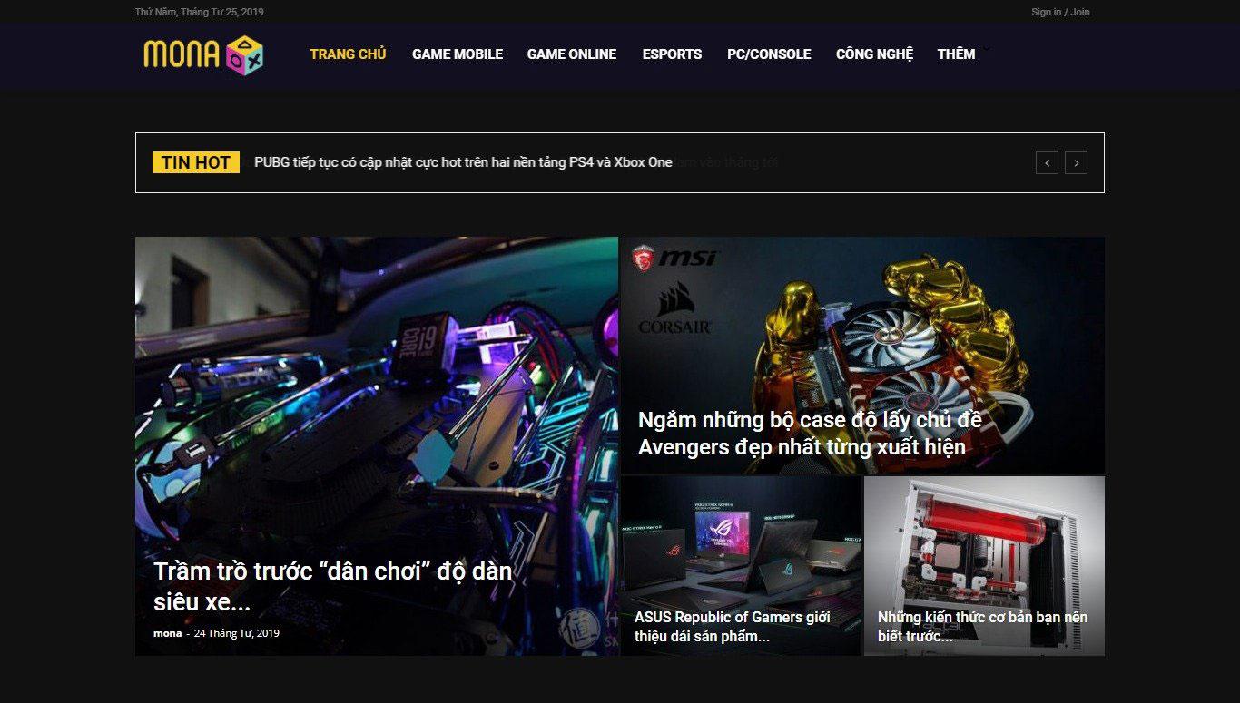 Mẫu website tin tức Game giống Game8