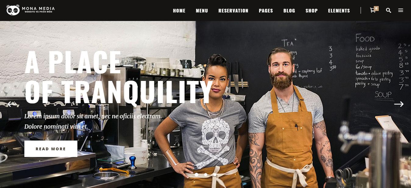 Công nghệ thiết kế web quán cà phê