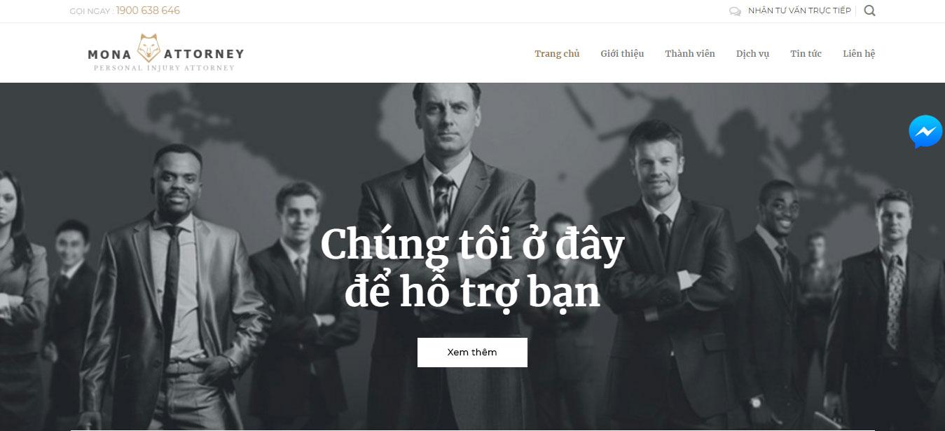 Nên thiết kế website công ty luật
