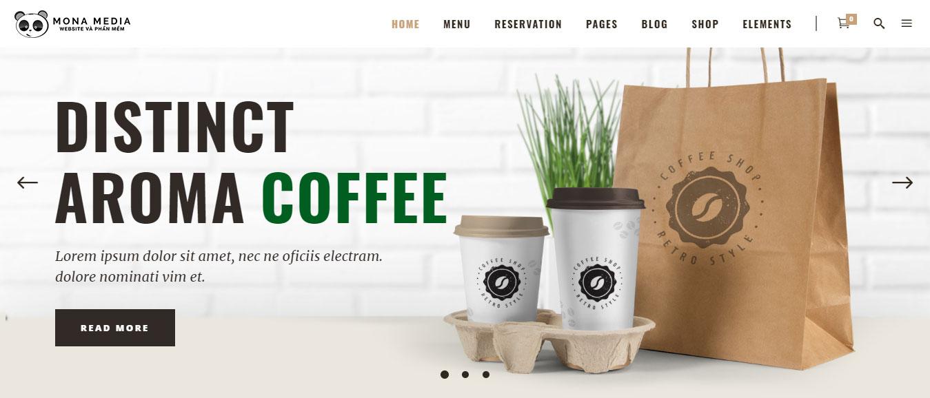 Thiết kế website quán cafe hoàn hảo
