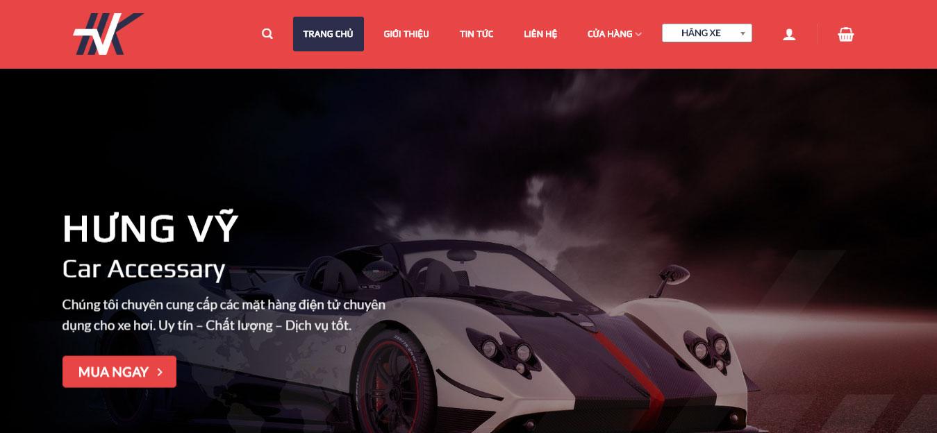 Website giới thiệu ô tô Hưng Vỹ
