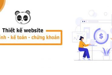 Thiết kế website công ty Tài chính - Kế toán - Chứng khoán